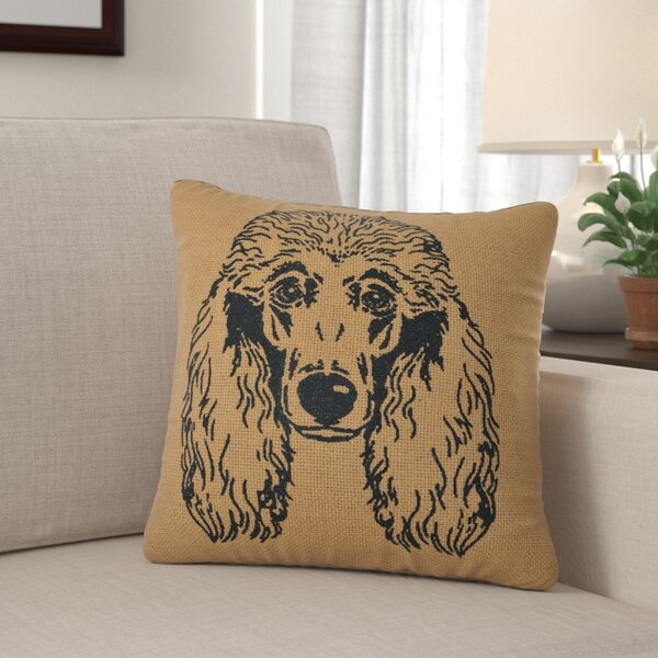 Brassiewood Poodle Dog 100% Cotton Throw Pillow by Winston Porter